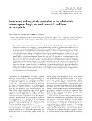 Evolutionary and organismic constraints on the relationship between ...