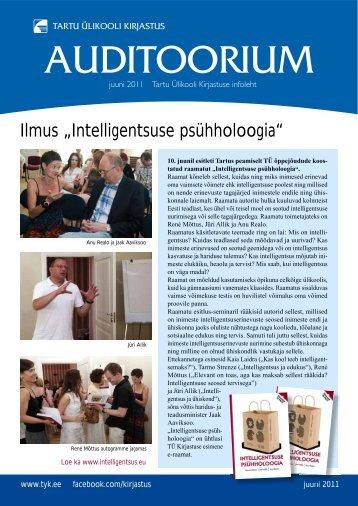 Auditoorium - juuni 2011 - Tartu Ülikooli Kirjastus