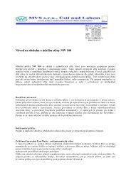 Návod na obsluhu a údržbu stìny NW 100 - Mobilní příčky