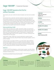 Sage 100 ERP Sweetens the Pot for anDea Chocolate - Sage North ...