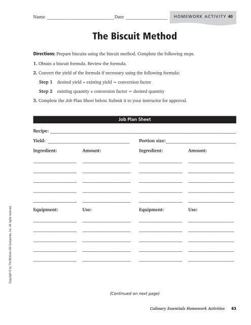 Unit 6 Homework Activities