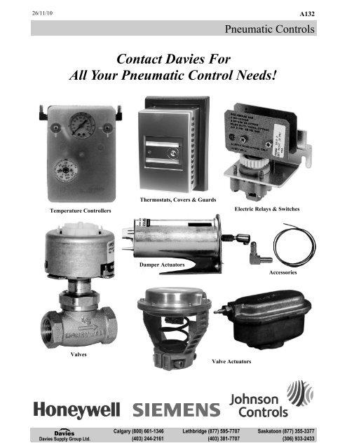 Johnson Controls T-4100-4 Series T-4100 Single Temperature Low Volume Output Thermostat Reverse Acting Celsius Johnson Controls Inc