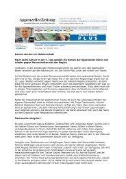 Appenzeller Zeitung 16.10.07 - RVNO