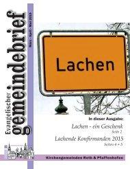 Evang. Kirchengemeinde Roth - Gemeindebrief März 2015 bis Mai 2015