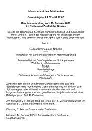 Jahresbericht des Präsidenten 2007 - Cercle des Chefs de Cuisine ...