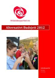 Arbeiderpartiets alternative budsjett 2012 - Stavanger kommune