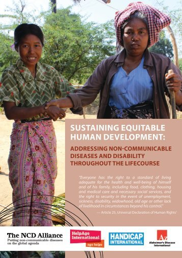 SUSTAINING EQUITABLE HUMAN DEVELOPMENT: - NCD Alliance