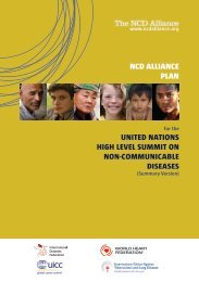 NCD Alliance Plan of Action for the UN Summit