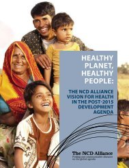 Healthy Planet, Healthy People: The NCD Alliance Vision for Health ...