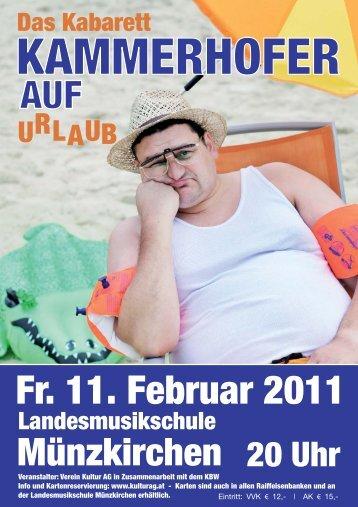 Veranstaltungen (Kabarett 11.Feb.2011 u. Chris Lohner ... - kulturag.at