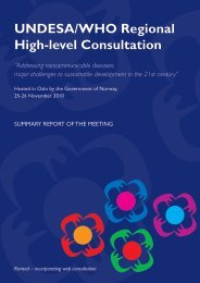 UNDESA/WHO Regional High-level Consultation - World Health ...