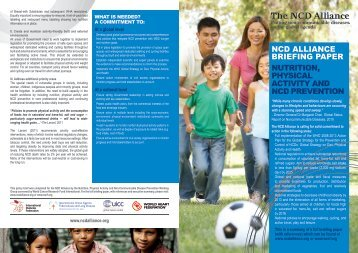 ncd alliance briefing paper nutrition, physical activity and ncd ...