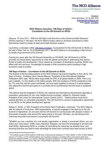 NCD Alliance 100 Days Campaign Media Release 10 06 11.pdf