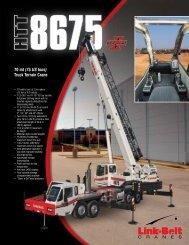 70 mt (75 US tons) Truck Terrain Crane - Link-Belt Construction ...