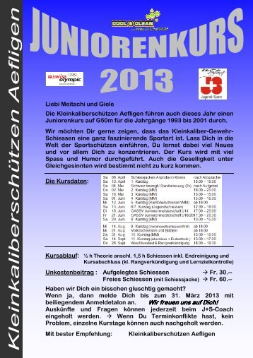 Ausschreibung 2013 - KKS Aefligen