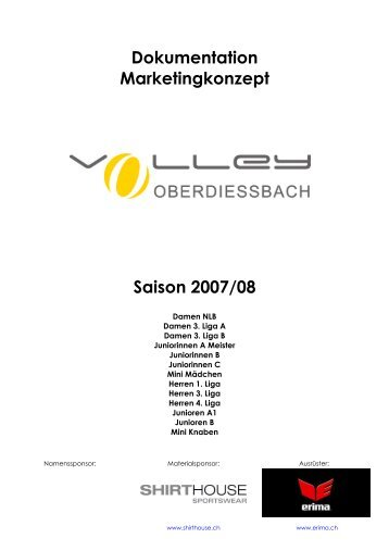 Dokumentation Marketingkonzept Saison 2007/08 - Volley ...