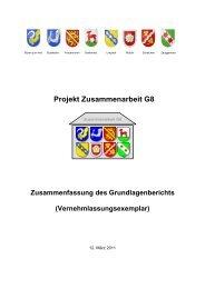 Zusammenfassung des Grundlagenberichts - Projekt ...