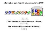 Präsentation der 3. Informationsveranstaltung - Projekt ...