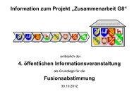 Präsentation der 4. Informationsveranstaltung - Projekt ...