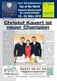 Christof Kauert ist neuer Champion