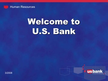Employee Powerpoint presentation - US Bank