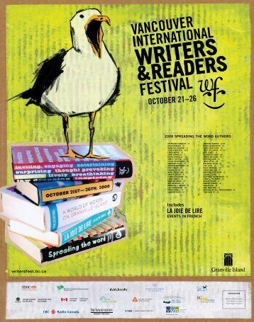 OCTOBER 21–26 - Vancouver International Writers Festival