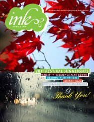 Winter 2011 - Vancouver International Writers Festival