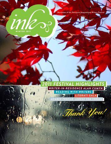 Winter 2011 - Vancouver International Writers Festival