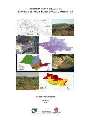 proposta para a criação da floresta estadual ... - Instituto Florestal