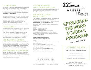 here - Vancouver International Writers Festival