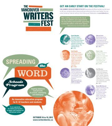 get an early start on the festival! - Vancouver International Writers ...