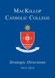 Strategic Directions - MacKillop Catholic College