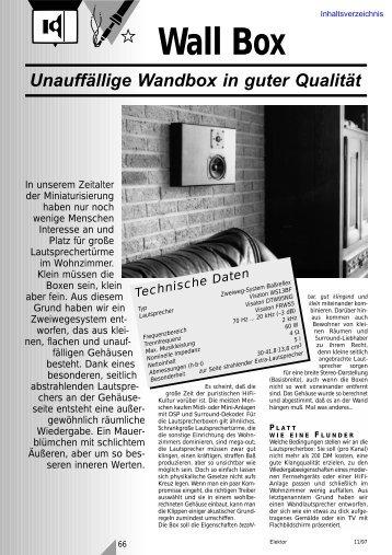 Wall Box Unauffällige Wandbox in guter Qualität ... - WebHTB