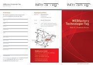 Flyer WEBfactory Technologie-Tag