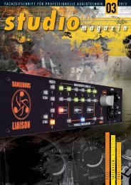 fachzeitschrift für professionelle audiotechnik 2012 - JV-Acoustics