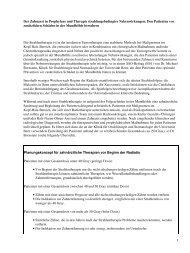 Der Zahnarzt in Prophylaxe und Therapie strahlungsbedingter ...