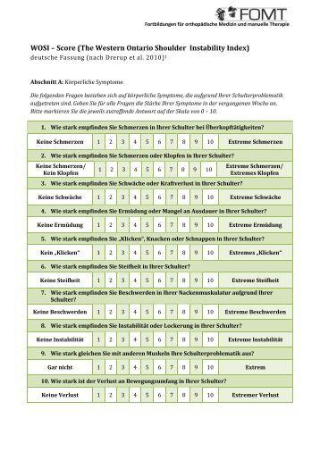 Shoulder Pain And Disability Index Deutsch
