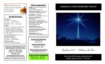 Epiphany 2013 ~ Following the Star - Solomons United Methodist ...