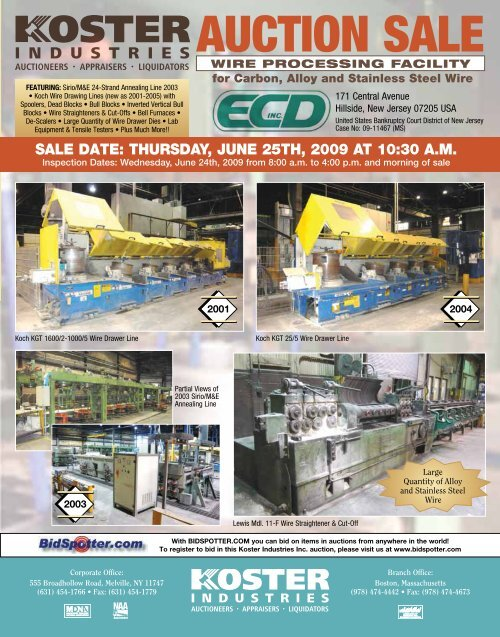 AUCTION SALE CTION SALE - National Machinery Exchange
