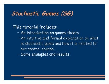 stochastic games1