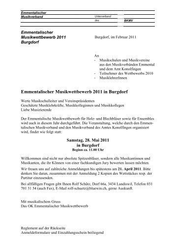 Emment. Musikwettbewerb 2011 in Burgdorf - Emmentalischer ...