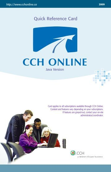 Quick Reference Card - CCH Canadian