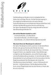 Wundbehandlung - Spitex Burgdorf-Oberburg