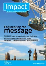 Engineering the - Association for Consultancy and Engineering