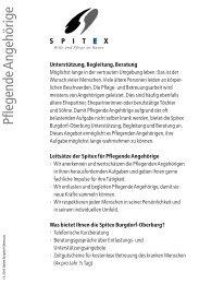 Pflegende Angehörige (Prospekt) - Spitex Burgdorf-Oberburg