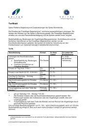 Tarifblatt - Spitex Burgdorf-Oberburg