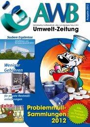 Huiiii ... 33% billiger! Problemmüll- Sammlungen 2012 - Der AWB