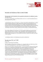 Rezension: Im Fadenkreuz: Kuba von Horst Schäfer - PdA Bern
