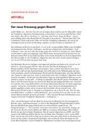 AKTUELL Der neue Kreuzzug gegen Brecht - PdA Bern