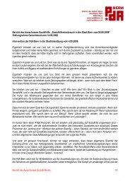 Bericht des Ausschusses Sozialhilfe ... - PdA Bern